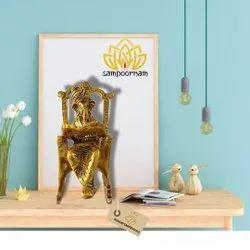 Aligarh Aluminium Chair Ganesha, Size: 8 Inch Height