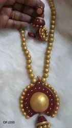 Terracotta Long Necklace set