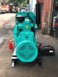 Crompton 2021 50 Kva Tata Open Diesel Generator Set., For Construction, Single Phase