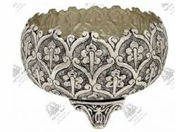 1 Liters Round Silver Plated Artifacts