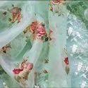 Ladies Linen Digital Printed Silk Saree