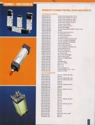 Pneumatic Cylinders (Piston), Valves and Spares kit