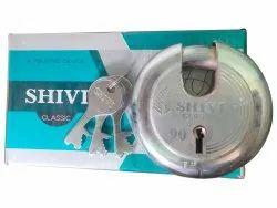 Shivi With Key 90mm Disc Lock, Chrome