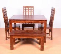 Sheesham Wooden Dining Table Set
