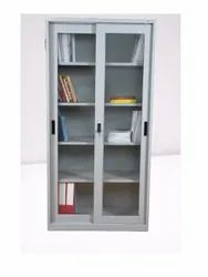 Storage Systems grey, white Glass Sliding Door Almirah, Modern, 2 Doors
