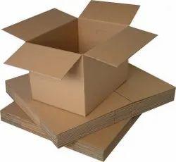 Rectangular Plain Brown Corrugated Carton Box, Weight Holding Capacity (Kg): 5 - 10 Kg