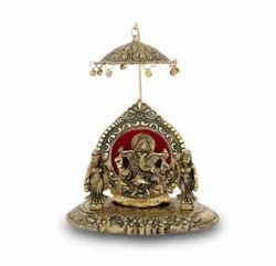 Gold Plated Ganesh With Riddhi Siddhi For Home Decoration & Corporate Gift