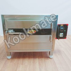 Stainless Steel Square SS Electrical Idli Steamer, Capacity: 100-120