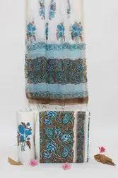 Pure Cotton Hand Block Printed Suits With Maheshwari Dupatta, 20 Colour