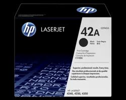 HP 42A Black Original LaserJet Toner Cartridge (Q5942A)