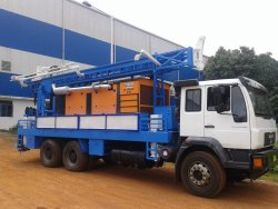High Quality 1000 Feet Deep Man Truck Hydraulic Water Well Drilling Rig