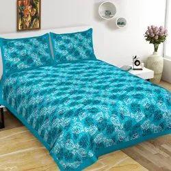 Online Mesho Jaipuri Cotton Bedsheet