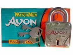Watchmen With Key 7 Lever Iron Padlock, Padlock Size: 50mm, Chrome