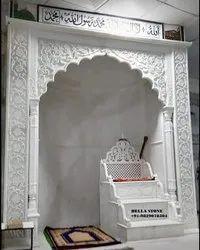 Carved  Masjid Mehrab Marble Artifacts