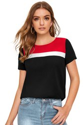 14 Year Up Women Round Neck Designer Tshirts, Quantity Per Pack: 2500