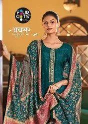 Fourdots Avsar Vol 4 Viscose Upada Silk Exclusive Salwar Suits