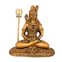 Gold Plated Lord Shiv Statue