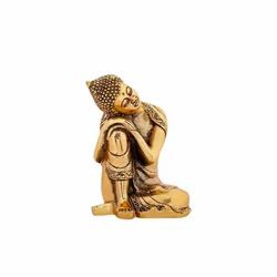 Gold Plated Side Face Buddha Statue For Home Decoration & Corporate Gifts