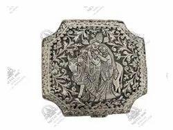 Radha Krishna Polished Silver Plated Artifacts