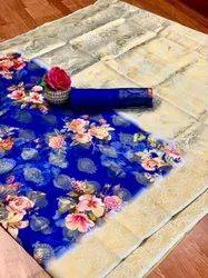 Soft Silk Digital Printed Saree