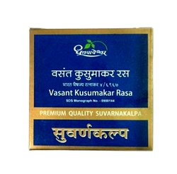 Dhootapapeshwar Vasant Kusumakar Ras Immunity Booster Tablets, Grade Standard: Medicine Grade, Packaging Type: Box