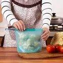 Silicone Medium Ziploc Reusable Airtight Seal Food Storage Bag