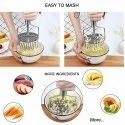 Stainless Steel Potato & Vegetable Masher With 2 Layer Design