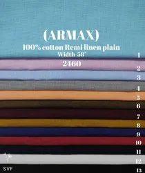 Armax 100% Cotton Remi Plain Shirting Fabric
