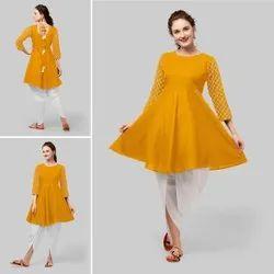 Cotton Checks Ladies Designer Dhoti Kurta Set
