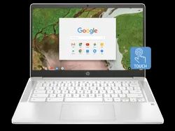 HP Chromebook 14a-na0002TU Touch screen Laptop (Cel N4020/4GB/64GB SSD/Chrome OS), white