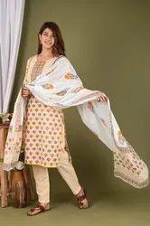 Cotton Printed Dupatta set