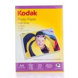 White Kodak A4 Size Photo Paper, Packaging Type: Packet