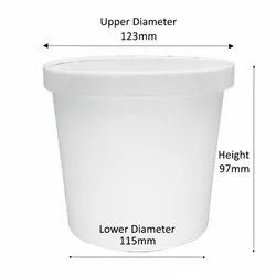 1000 ml Paper Tub with Lid