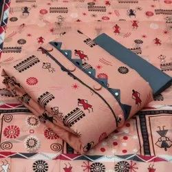 Printed Ladies Dress Material for Clothing