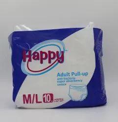 Unisex Pant Adult Pull Up Diaper M/L10, Waist Size: 41''-54'', Size: Medium
