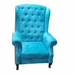 Modern Sea Blue High Back Sofa Chair, For Home