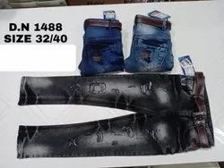 Casual Wear Embroidery Kids Denim Jeans, Size: 32 To 40, Handwash