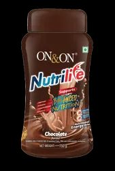 On&On Nutrilife Chocolate Flavour Powder 750 gms for Nutritional Suppliments, Packaging Type: Plastic Container