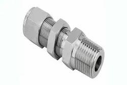 Stainless Steel Double Ferrule Bulkhead Male Connector