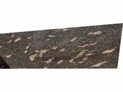 Polished Fish Brown Granite Slab, For Flooring, Thickness: 9 mm
