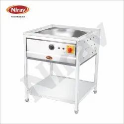 NIRAV Stainless Steel 15 Ltr Electric Kadai with Stand, Size: 26