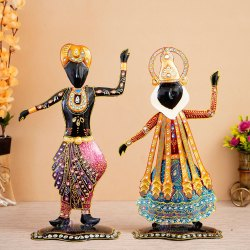 Multicolor Painting Indian Handicrafts, For Decorative, 18x5x10