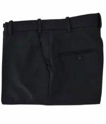 Regular Fit Formal Wear Mens Black Cotton Pant, Machine wash, Size: 32