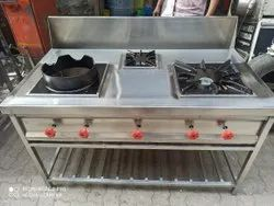 Stainless Steel 3 Burner Gas Range