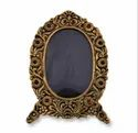 Gold Plated Round Photo Frame For Home Decoration & Corporate Gift