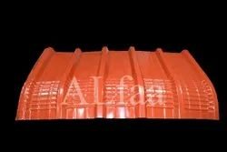 Steel / Stainless Steel Red Corrugated Roofing Sheets