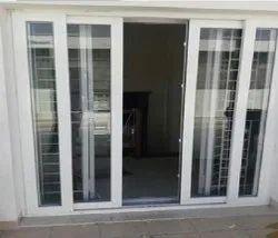 White UPVC Sliding Door, For Home, Exterior