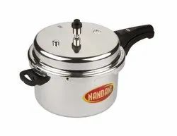 Silver Stainless Steel Nandani Pressure Cooker, For Home, Capacity: 5 Litre