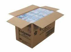 Brown Rectangular Colgate Corrugated Carton Box