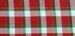 Red Checked Cotton Table Placemats, One, Size: 13